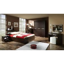 chambre wengé justhome fokus ensemble de chambre à coucher couleur wengé achat