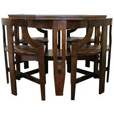 Rare Arts Crafts Game Table And Chairs For Sale