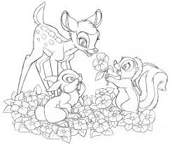 Disneys Bambi And Friends Coloring Page