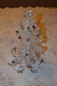 10 High Clear Acrylic Christmas Tree With Miniature Ornaments