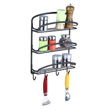 étagère en fer forgé pour cuisine accessoires de cuisine mur monté en fer forgé étagère à épices