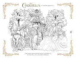 Cinderella Coloring Page Golden Carriage