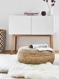 kleines sideboard high on wood in weiss hochglanz