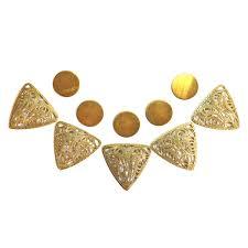 Triangle Filigree Round Base Kit Collar Filigree Triangular