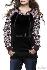 women u0027s fall winter long sleeve floral print pullover hoodie