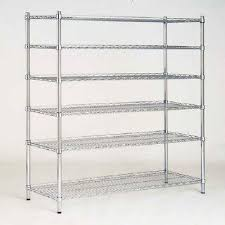 D Decorative Wire Chrome Finish Commercial Shelving