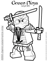 Ninjago Coloring Page Green Lego Pages Kai Zx