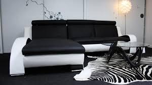 canap noir et blanc canap d angle cuir blanc design canap duangle en cuir