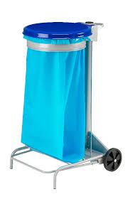 support sac poubelle cuisine support sac poubelle roulant rossignol couvercle bleu manutan