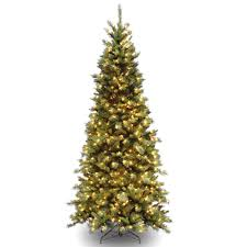 9ft Pencil Christmas Tree by National Tree Company 7 5 Ft Tiffany Fir Slim Tree With Clear Lights