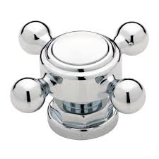 Dresser Hardware Knobs Home Depot by Liberty 2 In Chrome And White Vintage Faucet Cabinet Knob P33352c