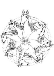 Horse Mandala Coloring Pages Free And Printable