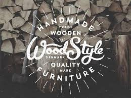 Were Loving The Rustic Look Feel Of This Logo Featured Student Project Woodstyle Furniture Class Design Creating Custom Typography For Your Brand