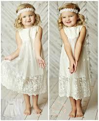 white flower girl dress girls lace dress rustic flower girl
