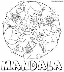 Mandala For Kids Sea Life