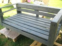Pallet Wood Bench Garden Diy Instructions