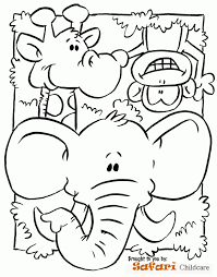 Safari Animals Coloring Pages Of
