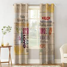 healing words warm wood window curtains living room