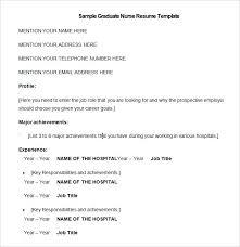Nurse Resumes Examples Nursing Resume Template Free Samples Format Download Sample No Experience