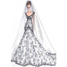 Beautiful Wedding Gowns Sketches Pictures