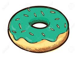 Sketchy donut doodle Stock Vector