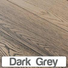 Grey Oak Flooring Dark Engineered Wood Matt Lacquered Texture Professional