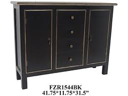 Crestview Living Room Cabinet Black FZR1544BK Shumake Furniture