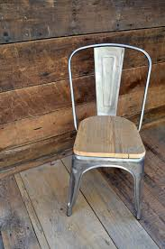Tolix Seat Cushions Australia by Custom Reclaimed Wood Seat Tolix Style Side Chairs