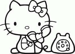 Hello Kitty Coloring Pages Print Online Princess