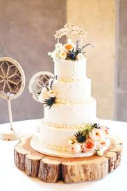 Rustic Cake Stand Flora And Fauna Wedding With Dome