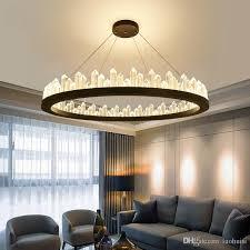 großhandel kristall kronleuchter moderne nordische kronleuchter luxus runde designer kreisförmige metall wohnzimmer kreative persönlichkeit