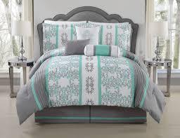 11 Piece Queen Alieli Gray Mint Bed in a Bag Set