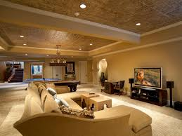 Exposed Basement Ceiling Lighting Ideas by Basement Remodel Designs Jumply Co