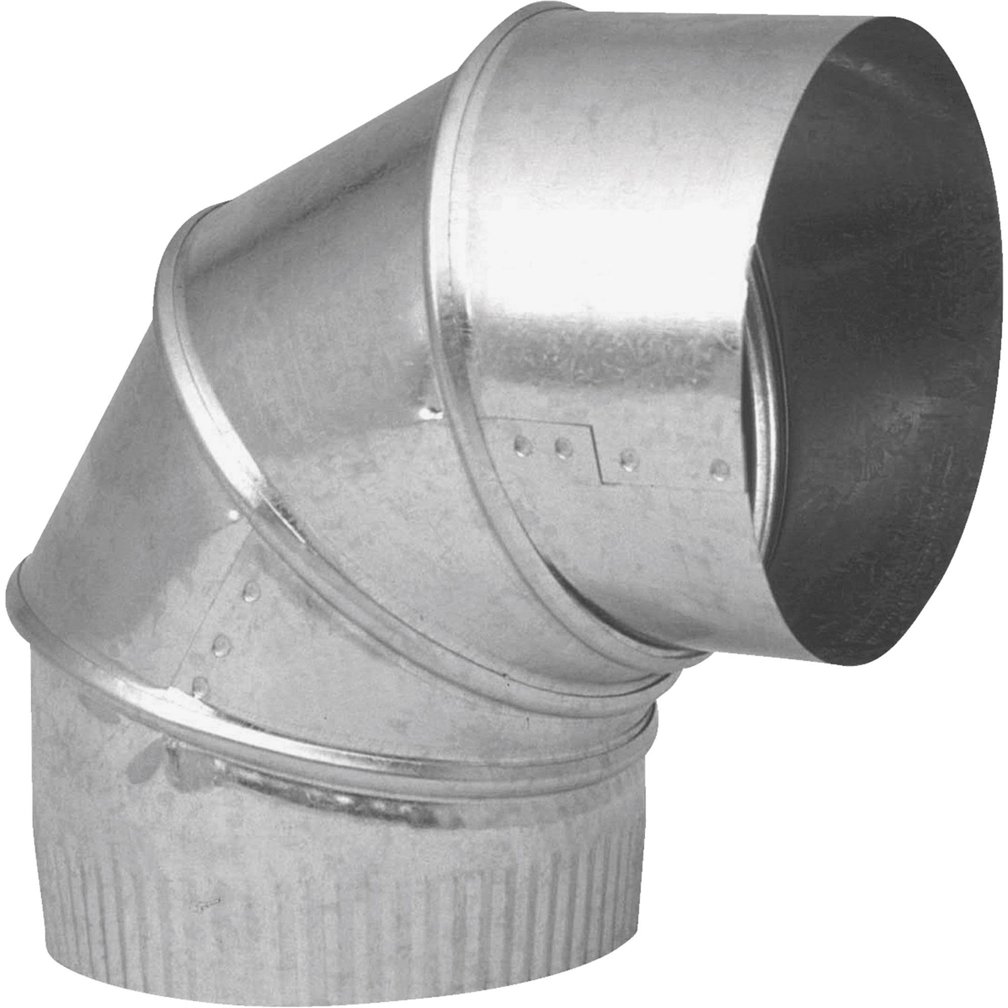 Imperial Manufacturing 90-Degree Galvanized Elbow Pipe - 6in