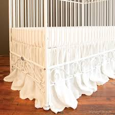 Bratt Decor Crib Skirt by Casablanca Crib Distressed White