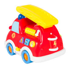 Fire Truck Toy with Lights and Sirens Bump n Go Teaching