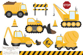 Sunshine Construction Trucks ~ Illustrations ~ Creative Market