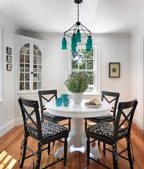View In Gallery Beach Style Dining Room With Captivating Pops Of Turquoise