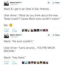 Uber Driver Accidentally Badmouths Former Texas Coach Mack Brown