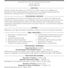 Rn Resume Templates Er Nursing Nurse Sample For Registered