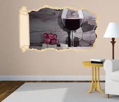 3d wandtattoo tapete wein glas trauben essen küche vintage durchbruch selbstklebend wandbild wandsticker wohnzimmer wand aufkleber 11o1949