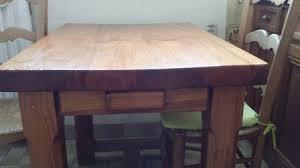 table de cuisine en bois massif achetez table cuisine bois occasion annonce vente à corbeil