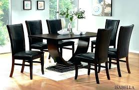 Black Dining Tables And Chairs Contemporary Table Designs For