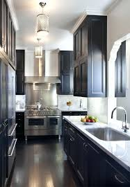 galley kitchen cabinets kitchen backsplash ideas dark cherry