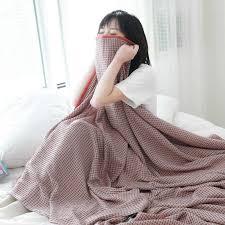 japan waffel baumwolle decke für bett sommer kühlen handtuch quilt plaid decke auf dem sofa frühling dünne bettdecke bettdecke bett abdeckung