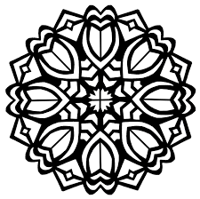 Mandala Art Deco Flowers