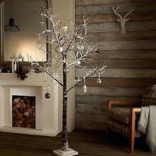 7 Ft White Pre Lit Christmas Tree by 96 Led Warm White 5ft 150cm White Snowy Pre Lit Christmas Twig