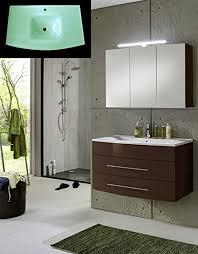 sam design badmöbel set basel 2 teilig hochglanz braun