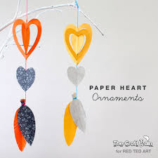 Easy Paper Crafts Heart Mobiles For Valentines