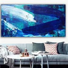 n a graffiti blue picture wall print painting